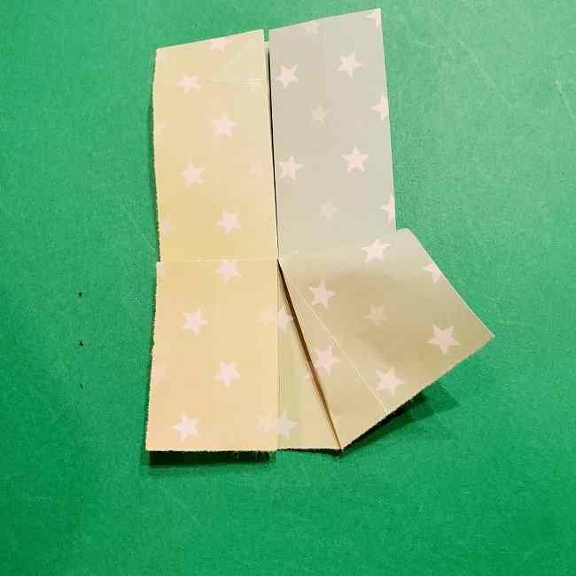 スヌーピーの女の子サリー(全身)の折り紙*折り方作り方②ワンピース (17)