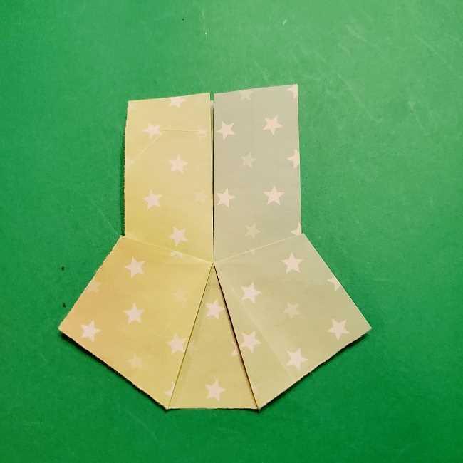 スヌーピーの女の子サリー(全身)の折り紙*折り方作り方②ワンピース (18)