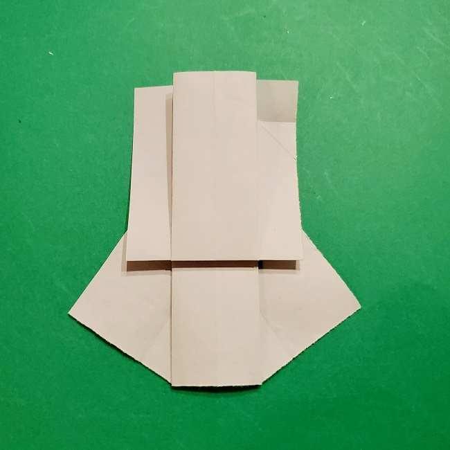 スヌーピーの女の子サリー(全身)の折り紙*折り方作り方②ワンピース (19)
