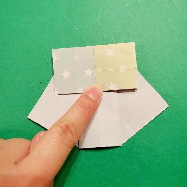スヌーピーの女の子サリー(全身)の折り紙*折り方作り方②ワンピース (20)