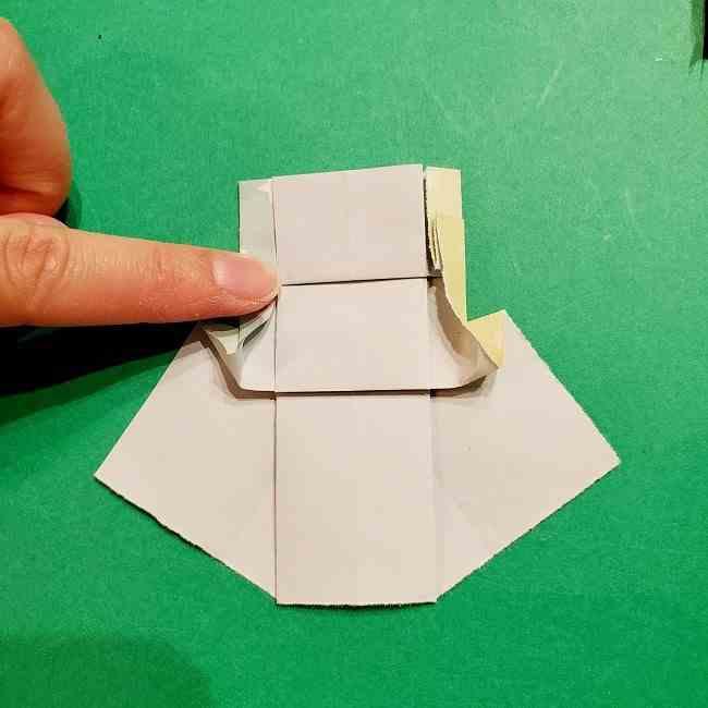 スヌーピーの女の子サリー(全身)の折り紙*折り方作り方②ワンピース (22)