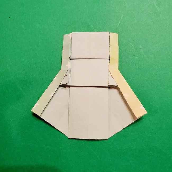 スヌーピーの女の子サリー(全身)の折り紙*折り方作り方②ワンピース (23)