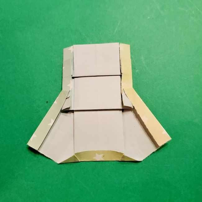 スヌーピーの女の子サリー(全身)の折り紙*折り方作り方②ワンピース (24)