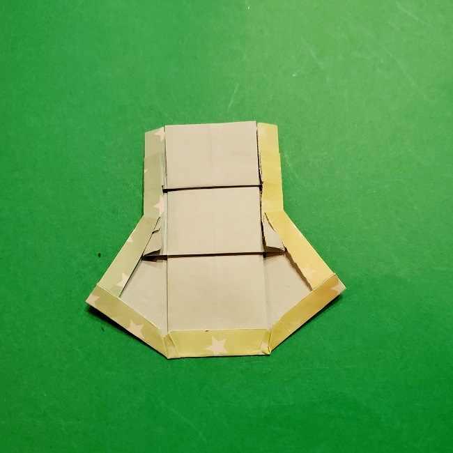 スヌーピーの女の子サリー(全身)の折り紙*折り方作り方②ワンピース (25)
