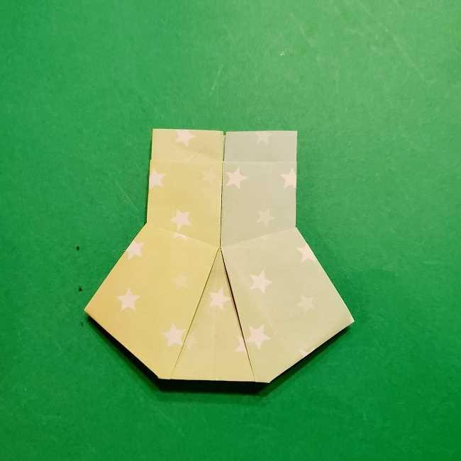 スヌーピーの女の子サリー(全身)の折り紙*折り方作り方②ワンピース (26)