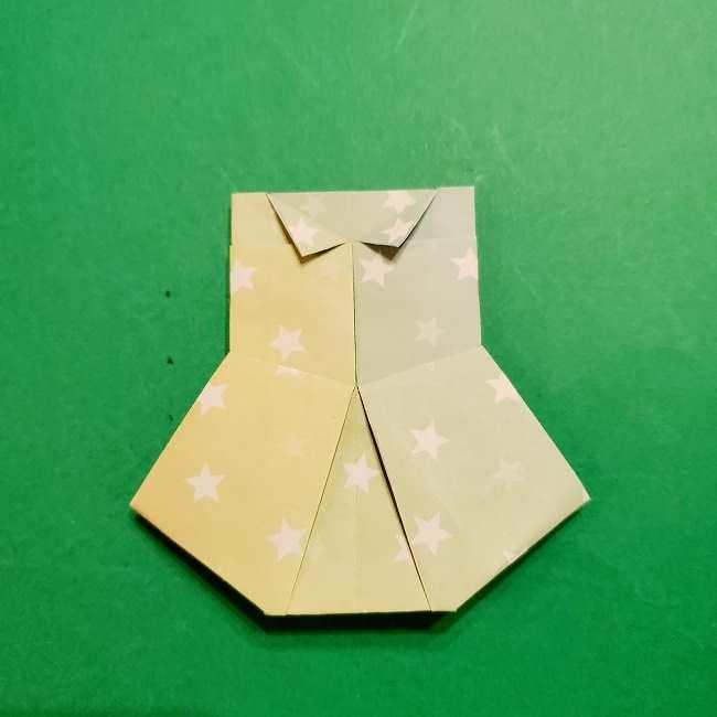 スヌーピーの女の子サリー(全身)の折り紙*折り方作り方②ワンピース (27)
