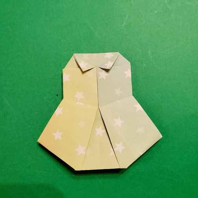 スヌーピーの女の子サリー(全身)の折り紙*折り方作り方②ワンピース (28)