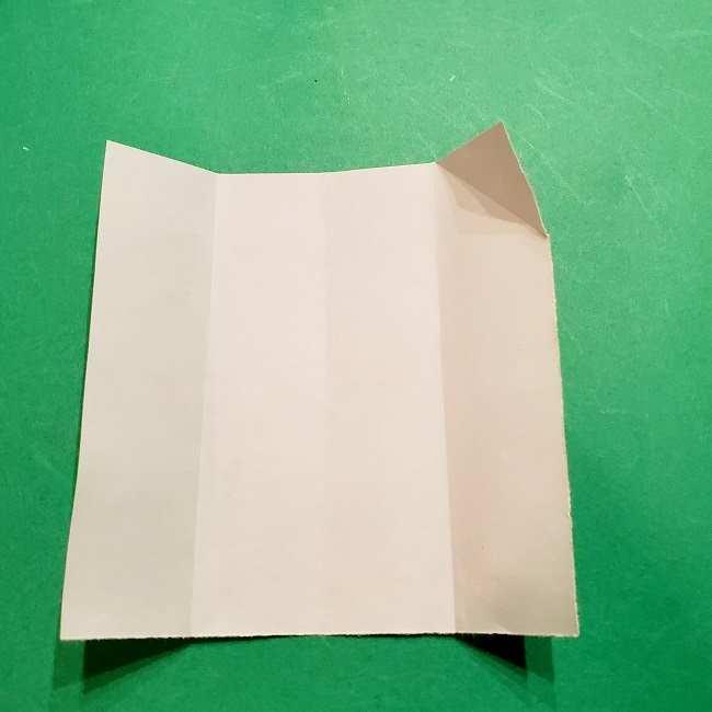 スヌーピーの女の子サリー(全身)の折り紙*折り方作り方②ワンピース (7)