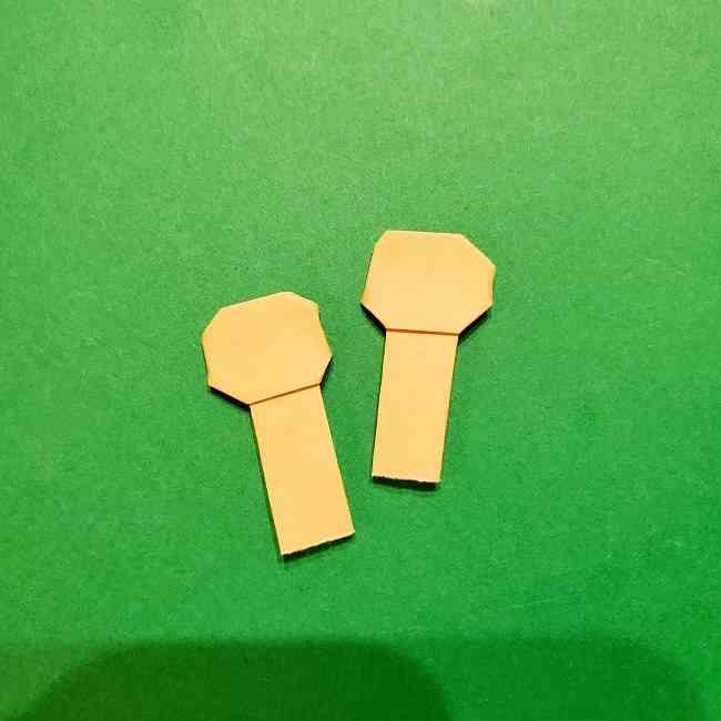 スヌーピーの女の子サリー(全身)の折り紙*折り方作り方③手
