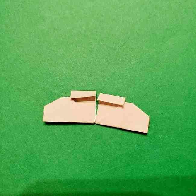 スヌーピーの女の子サリー(全身)の折り紙*折り方作り方⑥靴