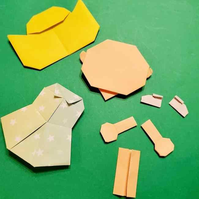 スヌーピーの女の子サリー(全身)の折り紙*折り方作り方⑦完成 (1)