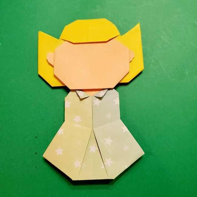 スヌーピーの女の子サリー(全身)の折り紙*折り方作り方⑦完成 (2)
