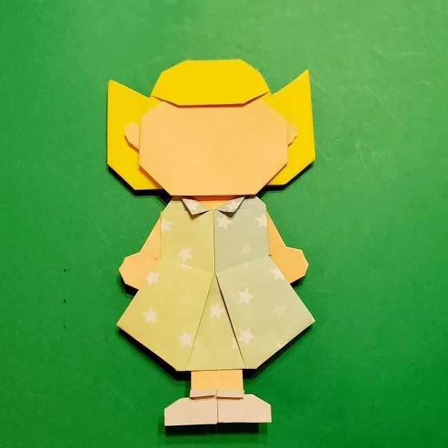 スヌーピーの女の子サリー(全身)の折り紙*折り方作り方⑦完成 (4)