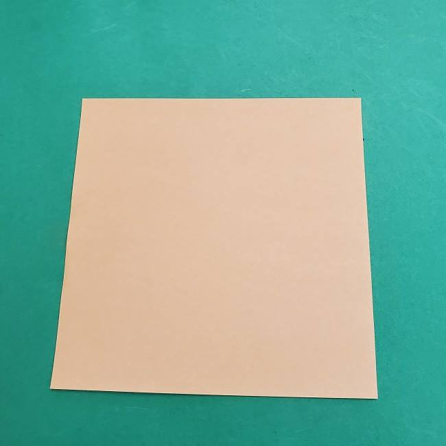 チャーリーブラウンの折り紙☆折り方作り方①顔 (1)