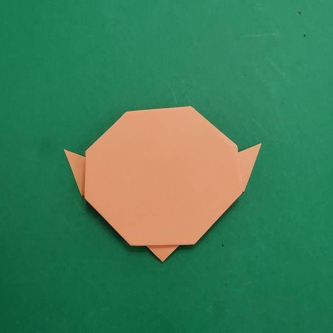 チャーリーブラウンの折り紙☆折り方作り方①顔 (10)