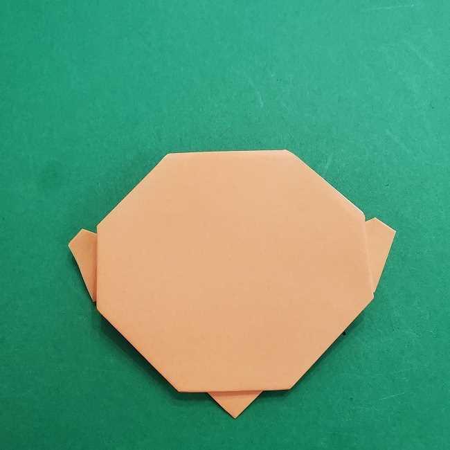 チャーリーブラウンの折り紙☆折り方作り方①顔 (11)