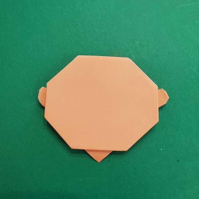 チャーリーブラウンの折り紙☆折り方作り方①顔 (12)