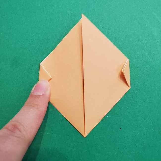 チャーリーブラウンの折り紙☆折り方作り方①顔 (4)