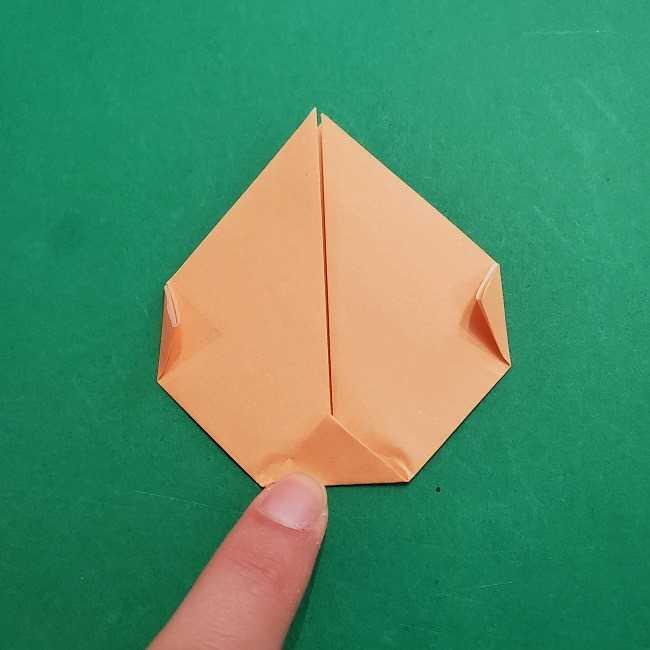 チャーリーブラウンの折り紙☆折り方作り方①顔 (5)