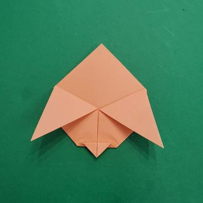 チャーリーブラウンの折り紙☆折り方作り方①顔 (7)