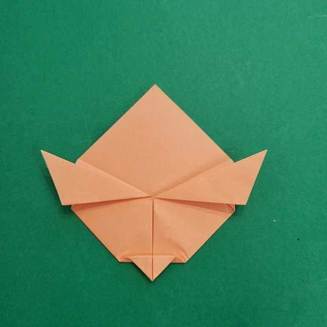 チャーリーブラウンの折り紙☆折り方作り方①顔 (8)