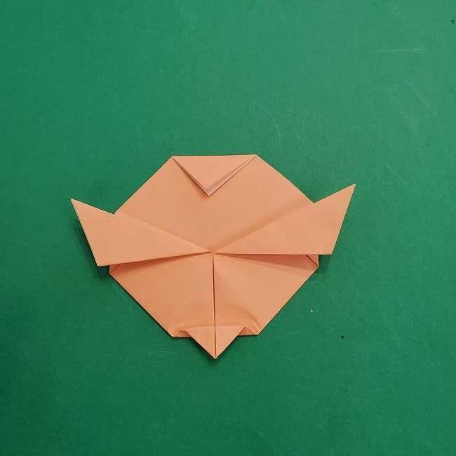 チャーリーブラウンの折り紙☆折り方作り方①顔 (9)
