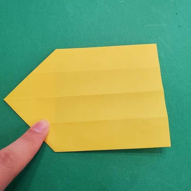 チャーリーブラウンの折り紙☆折り方作り方②シャツ (10)