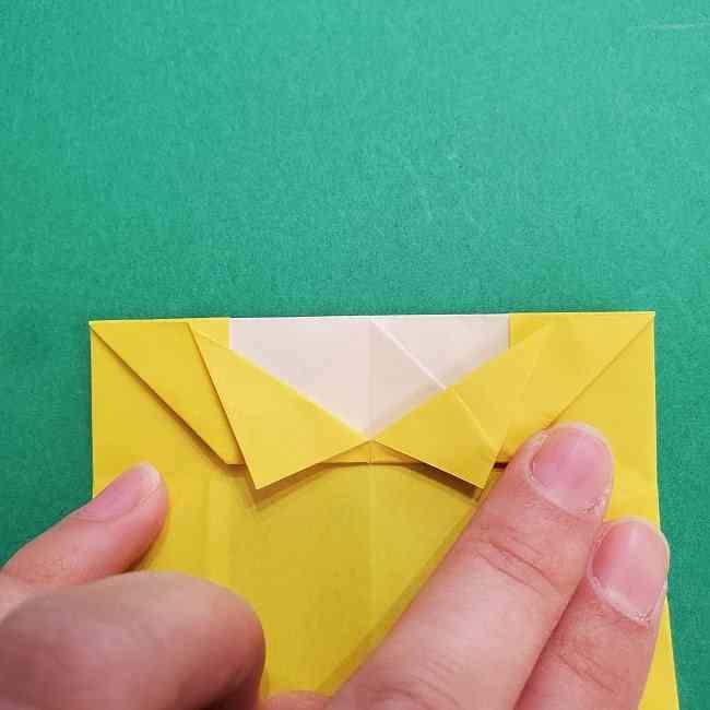 チャーリーブラウンの折り紙☆折り方作り方②シャツ (14)