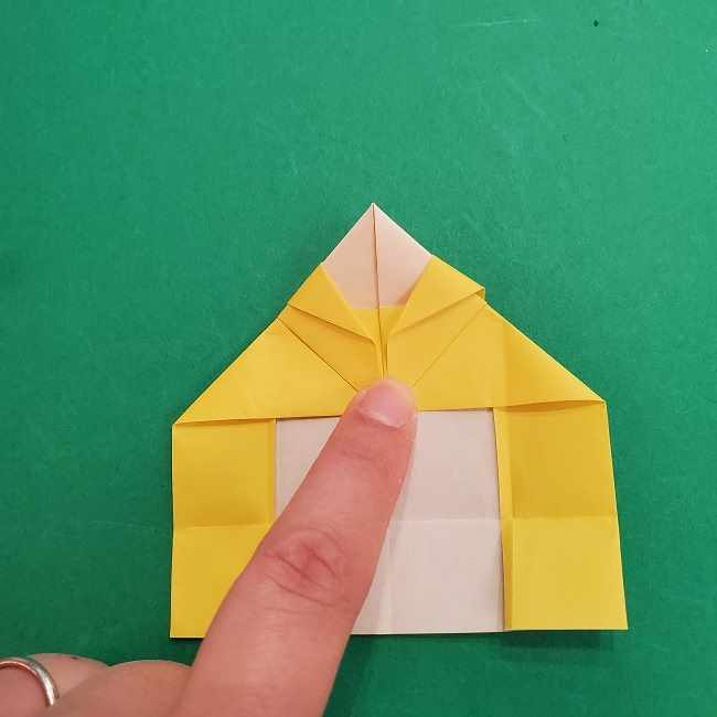 チャーリーブラウンの折り紙☆折り方作り方②シャツ (16)