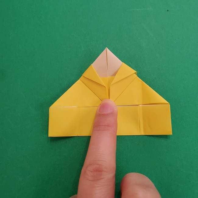 チャーリーブラウンの折り紙☆折り方作り方②シャツ (17)