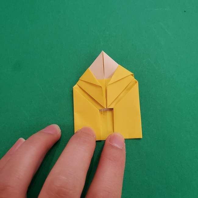 チャーリーブラウンの折り紙☆折り方作り方②シャツ (18)