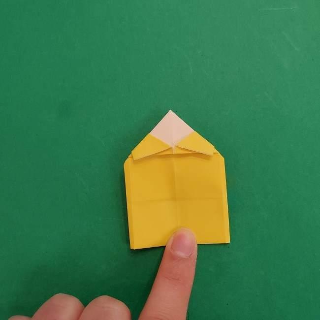 チャーリーブラウンの折り紙☆折り方作り方②シャツ (19)