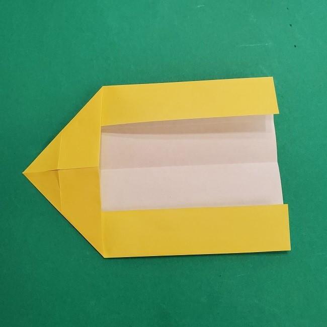 チャーリーブラウンの折り紙☆折り方作り方②シャツ (9)