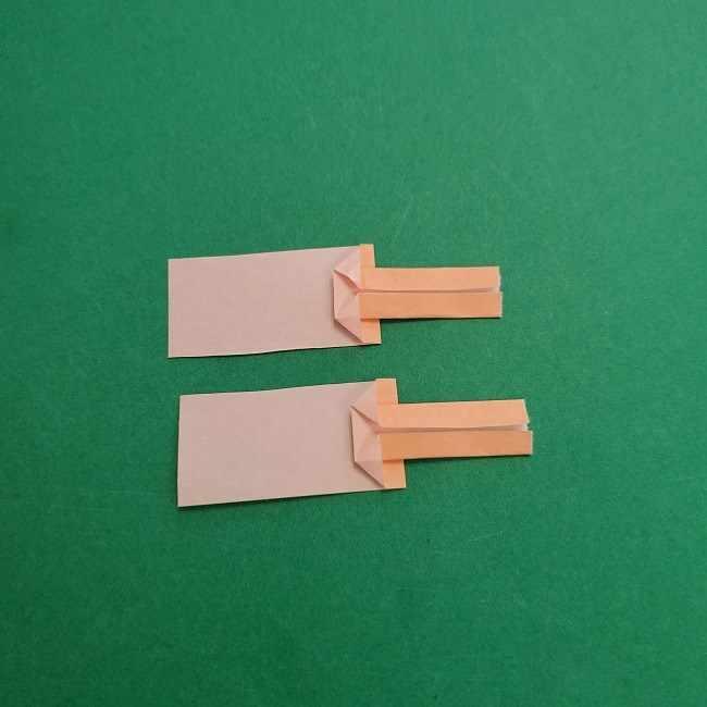 チャーリーブラウンの折り紙☆折り方作り方③手足 (13)