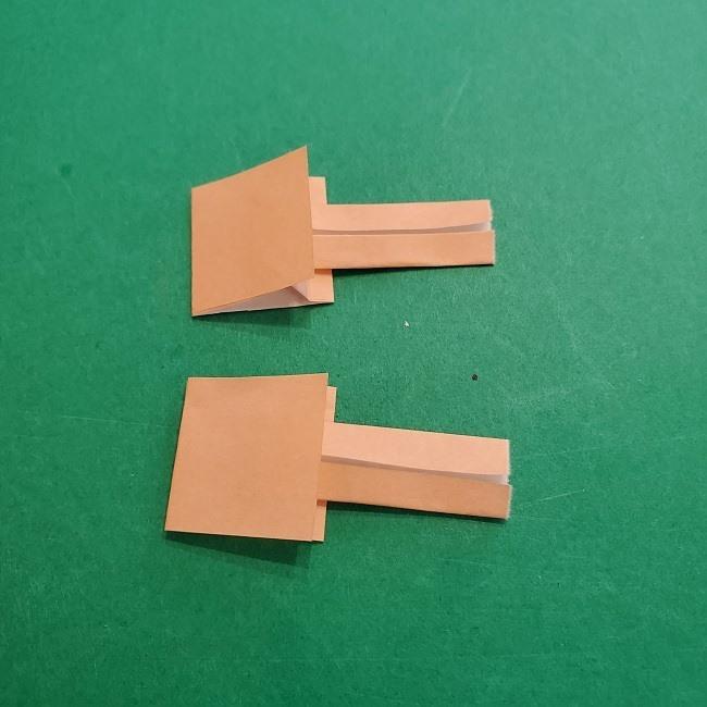 チャーリーブラウンの折り紙☆折り方作り方③手足 (14)
