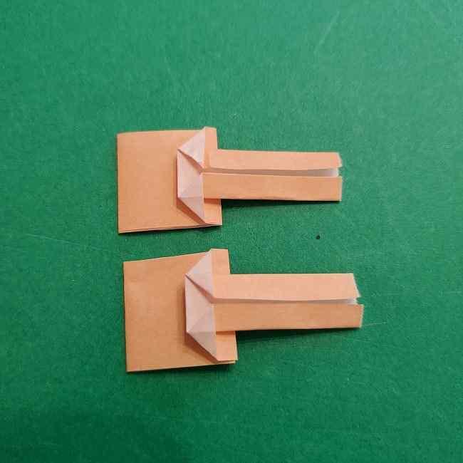 チャーリーブラウンの折り紙☆折り方作り方③手足 (15)