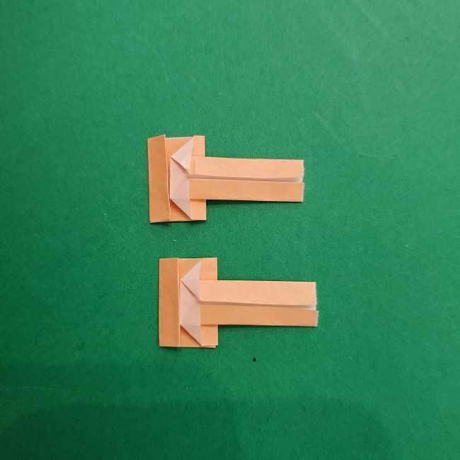 チャーリーブラウンの折り紙☆折り方作り方③手足 (16)