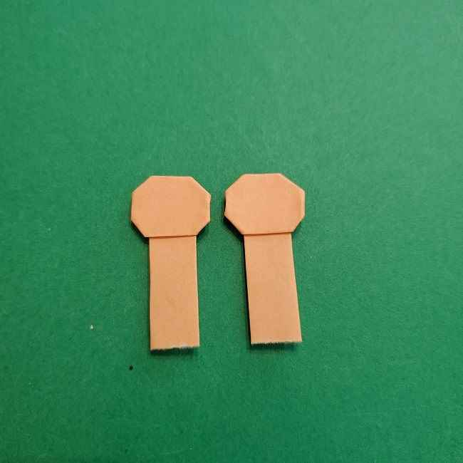 チャーリーブラウンの折り紙☆折り方作り方③手足 (19)