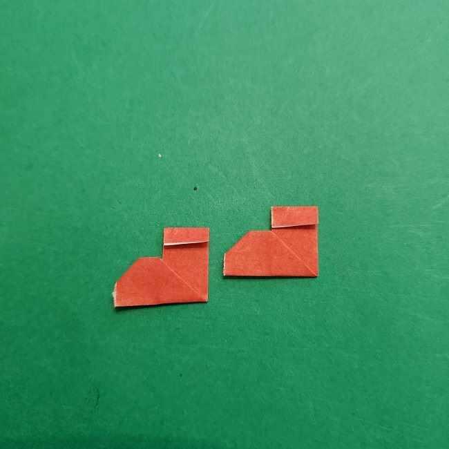 チャーリーブラウンの折り紙☆折り方作り方⑤靴 (10)