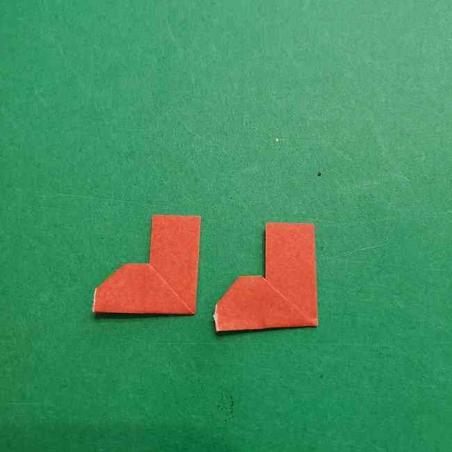 チャーリーブラウンの折り紙☆折り方作り方⑤靴 (9)