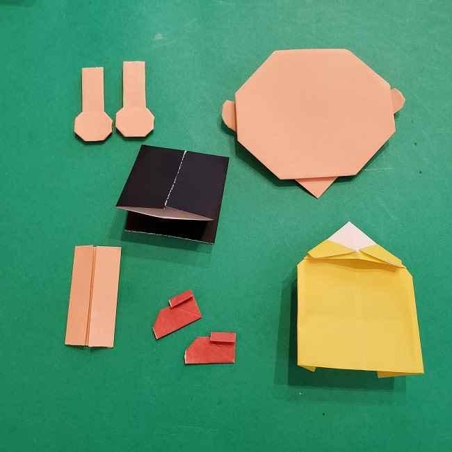 チャーリーブラウンの折り紙☆折り方作り方⑥完成 (1)