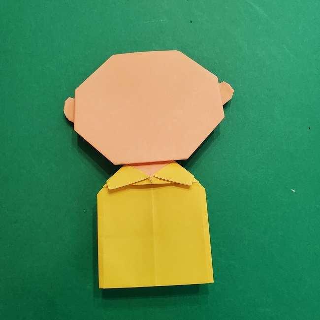 チャーリーブラウンの折り紙☆折り方作り方⑥完成 (2)