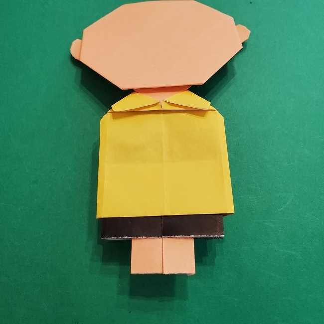 チャーリーブラウンの折り紙☆折り方作り方⑥完成 (4)