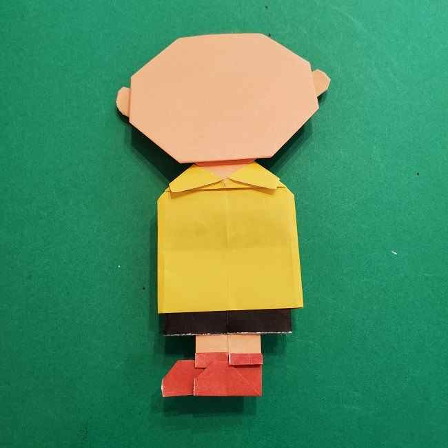 チャーリーブラウンの折り紙☆折り方作り方⑥完成 (5)