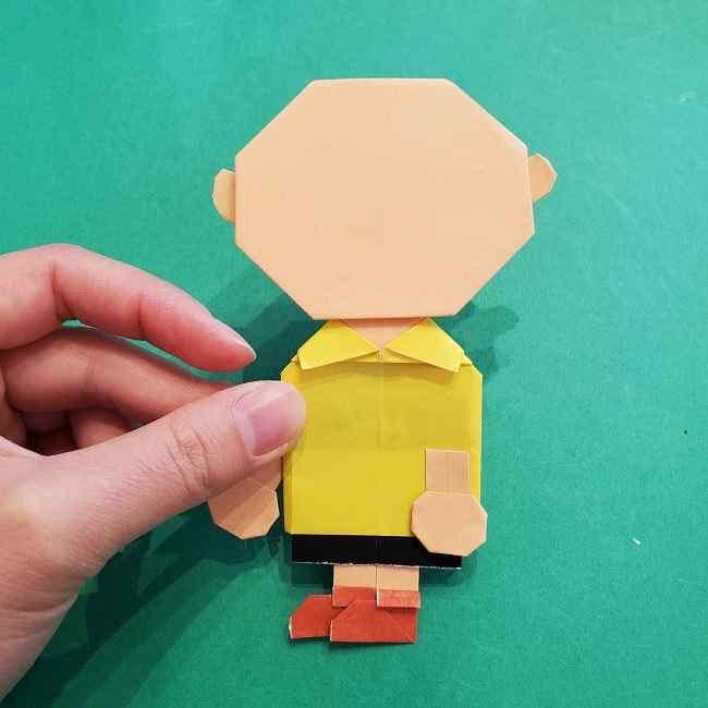 チャーリーブラウンの折り紙☆折り方作り方⑥完成 (6)