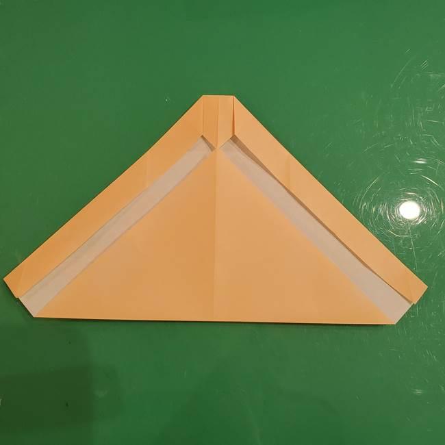 フクロウの折り紙★幼稚園児にも簡単な折り方作り方①折り方(11)