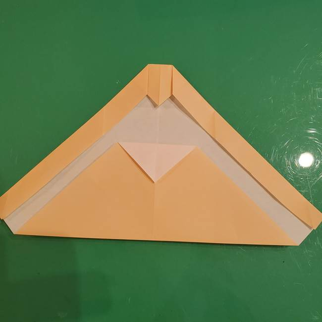 フクロウの折り紙★幼稚園児にも簡単な折り方作り方①折り方(12)