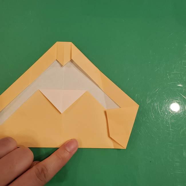フクロウの折り紙★幼稚園児にも簡単な折り方作り方①折り方(15)