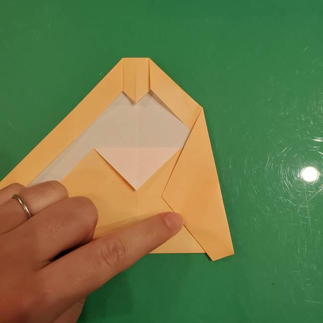 フクロウの折り紙★幼稚園児にも簡単な折り方作り方①折り方(16)
