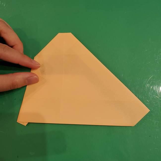 フクロウの折り紙★幼稚園児にも簡単な折り方作り方①折り方(17)